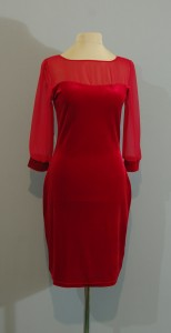 Красное бархатное платье, Киев, Украина
