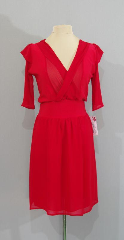 Красное платье дизайн