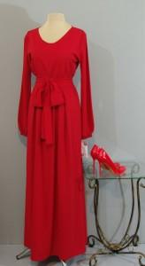 Красное шелковое платье в пол, Киев, Украина
