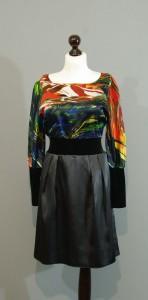 Шелковое платье из ткани коллекции DKNY