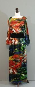 Шелковое платье-макси из ткани коллекции DKNY