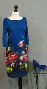 Синее платье с розами, Киев, Украина