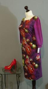 Платье фуксия с цветами, Киев, Украина