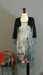 Платье с принтом Париж, Киев, Украина