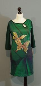 Яркое зеленое платье, Киев, Украина