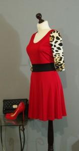 Красное трикотажное платье, Киев, Украина