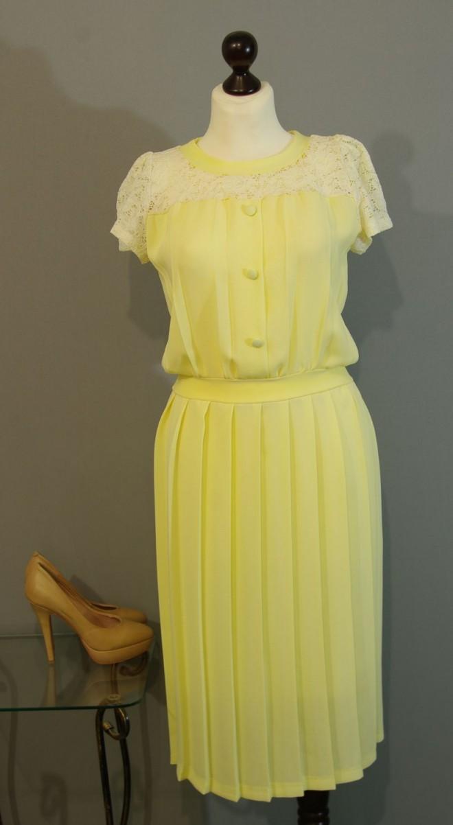 Вяззанное Платья Лимоннного Цвета