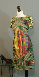 разноцветное шелковое платье от платье-терапия юлия киев