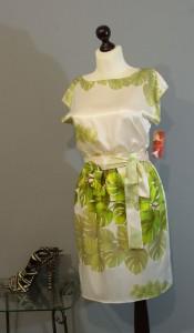 шелковое платье монстера