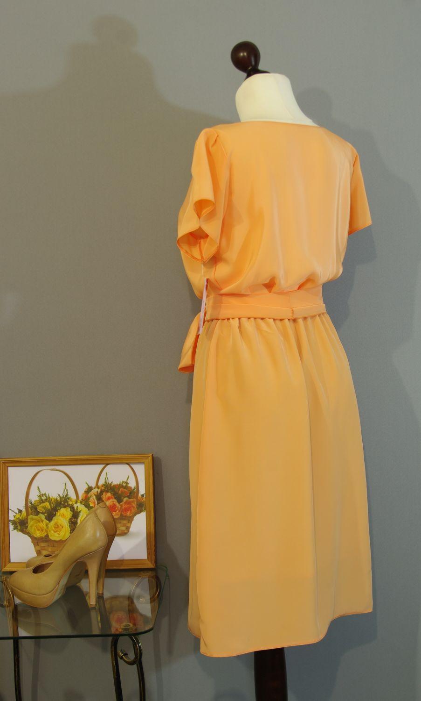Абрикосовое платье