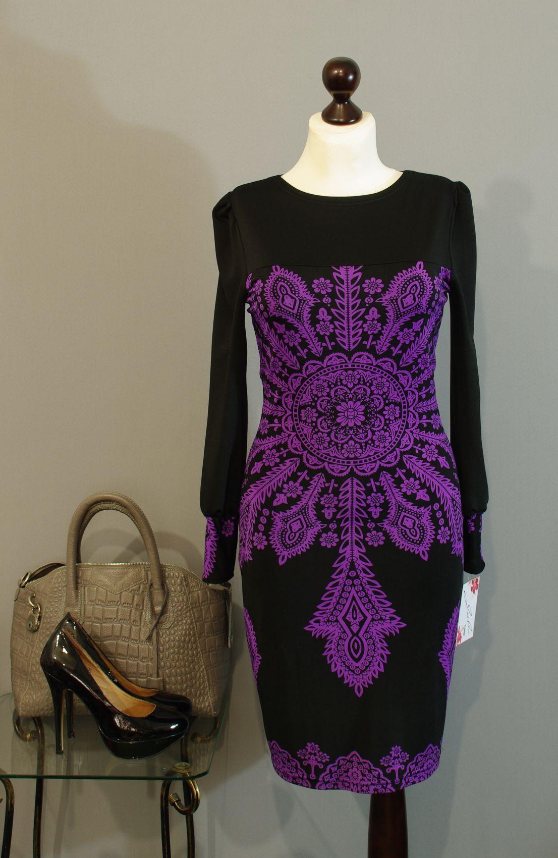 Платье чёрно фиолетовое