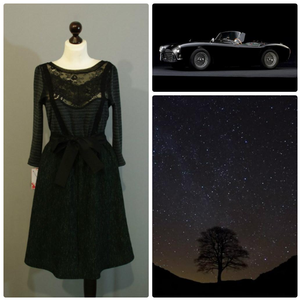 Платье черное с кружевами доставка