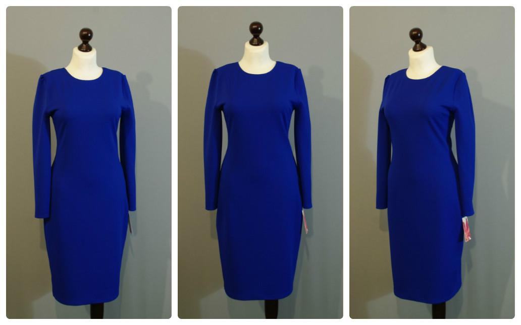 Синее платье электрик длины миди 878ad3d4b1414