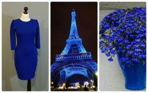 яркий цветотип в одежде синий цвет 18-1 синий цвет электрик