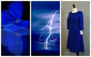 яркий цветотип в одежде 16-1 синий цвет электрик