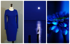 яркий цветотип в одежде 17-1 синий цвет электрик