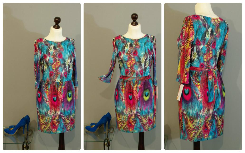 Рисунок платье из перьев