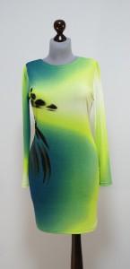 Яркое платье с переходом цвета