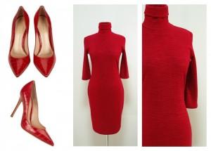 Червона тепла сукня
