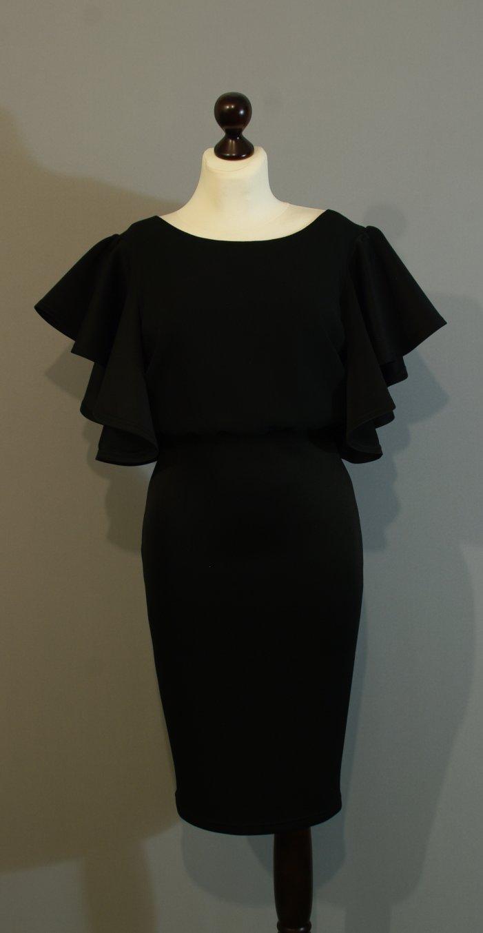 ef04e821f6e4f3e Нарядное черное платье с рукавами солнце купить интернет Украина (123) ...