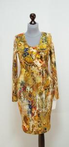 Демисезонное цветное платье