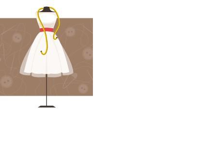 Как снять длину платья