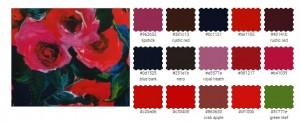 цветотип одежда оттенки яркий темный синий красный розовый