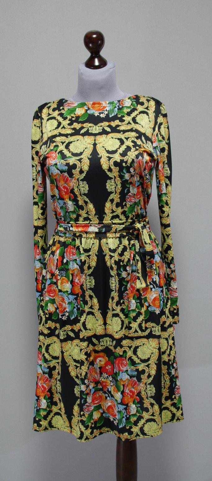 Платье Черное С Золотым