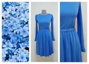 Сине-голубое дымчатое платье