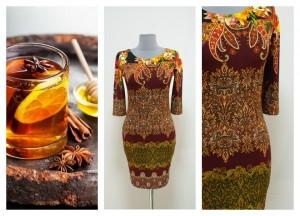 2016-2017 платье цвета марсала