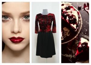 Темное платье в деловом стиле