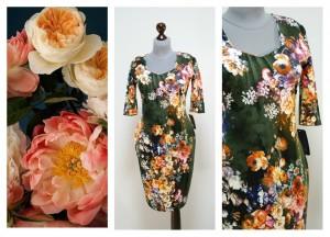 Цветочное платье на зиму