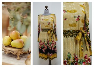 Платье бежевого цвета сливочного оттенка