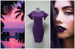Платье-терапия платье фиолетового цвета