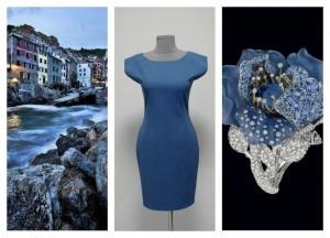 2016 дымчатое голубое платье