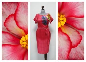 2016 коралловое платье