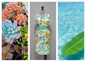 2016 летнее платье с декольте на запах