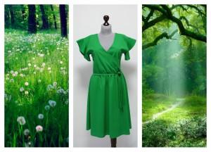 2016 яркое зеленое платье