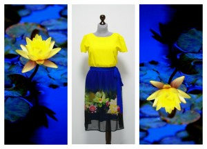 2016 желто-синее платье