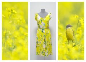 2016 желтое платье