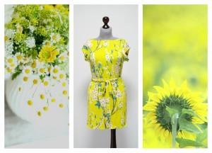 2016 желтое платье-мини
