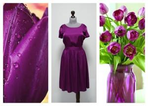 2016 платье фиолетовое фуксия