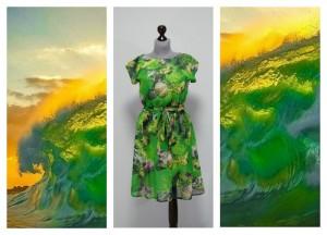 Зеленое платье цвета моря