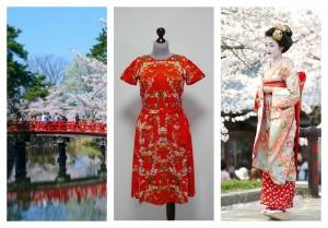 Цвета Японии в платьях