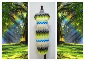 Платье из тканей светлых оттенков весны и лета