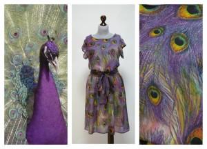 Павлиньи перья на платьях
