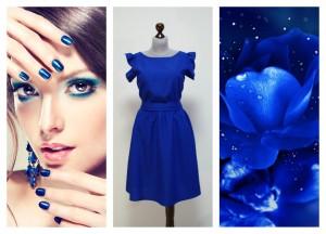 Яркий синий оттенок электрик в женской одежде