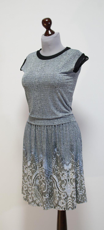 Черно Голубое Платье