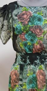 Платье из воздушной шифоновой ткани