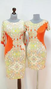 Оранжевые платья-карандаши